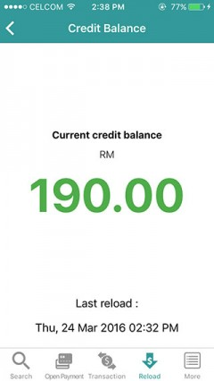 11. View available credit balance.